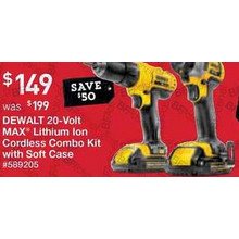DEWALT 2-Tool 20-Volt Lithium Ion Cordless Combo Kit with Soft Case