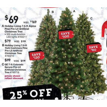 Holiday Living 7.5-ft Pre-Lit Alpine Artificial Christmas Tree w/ Color Changing LED Lights