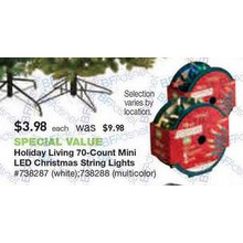 Holiday Living 70-ct. 14.3-ft. Constant White Mini LED Plug-in Indoor/Outdoor Christmas String Lights