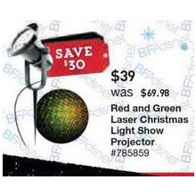Show Lights Multi-Function Red/Green Laser Multi-Design Christmas Indoor/Outdoor Laser Projector