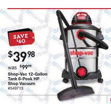 Shop-Vac 12-gal. 6-Peak HP Shop Vacuum
