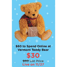$60 to Spend Online at Vermont Teddy Bear