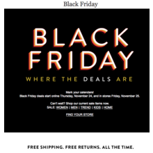 Nordstrom In-Store Black Friday Sale on 11/25