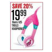 TROLLS HEADPHONES - SAVE 20%