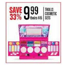 TROLLS COSMETIC SETS - SAVE 33%