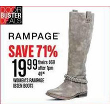 WOMEN'S RAMPAGE IBSEN BOOTS - SAVE 71%