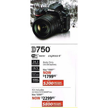 Nikon D750(Lens only) - Kit Includes 24-120 f/4 FX NIKKOR lens