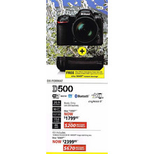 Nikon D500(Lens only) - Kit Includes 16-80mm f/2.8-4E DXVR NIKKOR image stabilizing lens