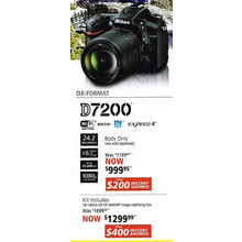Nikon D7200(Lens only) - Kit Includes 18-140mm DX VR NIKKOR image stabilizing lens