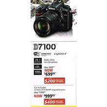 Nikon D7100(Lens only) - Kit Includes 18-140mm DX VR NIKKOR image stabilizing lens