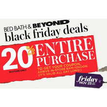 Bed Bath & Beyond black friday deals - Save 20% Off