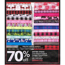 Cozy Flannel Solids & Snuggle Flannel Prints (Entire Stock) - 70% off