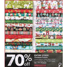Christmas Fabrics (Entire Stock): Includes Keepsake Holiday, Maker's Holiday & licensed holiday - 70% off