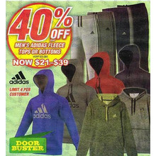 (Adidas - Limit 4Per Customer) Men's Adidas Fleece Tops or Bottoms