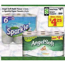 Sparkle Paper Towels 6 rolls