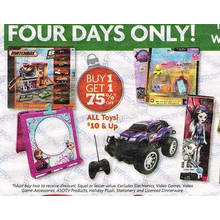 All Toys $10 up - Buy 1 get 1 75% off