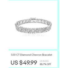 1.00-cttw. Diamond Chevron Bracelet