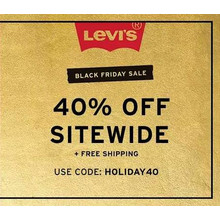 40% Off Levi's Black Friday Sale with Code HOLIDAY40