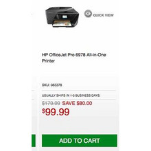 HP OfficeJet Pro 6978 All-in-One Printer - Save $80.00 Off