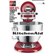 KitchenAid 5-Qt Stand Mixers in Red, Black or Silver