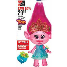 "12"" Tall Trolls Singing Poppy Dolls"