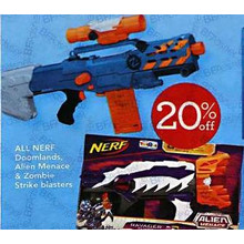 Nerf Alien Menace 20% OFF