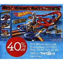 Hot Wheels Auto Lift Expressway Play Set 40% OFF