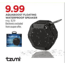 Tzumi Aquaboost Floating Waterproof Speaker
