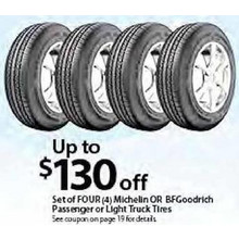 Any Set of Four Michelin Light Truck Tires FREE INSTALLATION