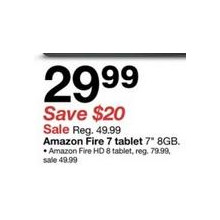 Amazon Fire 7″ 8GB Tablet