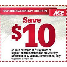 $10 off $50 or more of Regular-Priced Merchandise