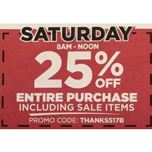 50% Off Saturday Noon-10PM One Regular Price Item Purchase