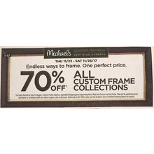 70% Off Custom Frame Collections