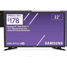 "Samsung 32"" 720p Smart LED HDTV"
