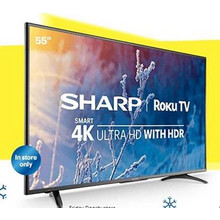 "Sharp 55"" Class LED 2160p Smart 4K UHD TV w/ HDR (In-Store Only)"