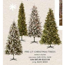 60% OFF North Pole Trading Co. 7 1/2-ft. Hampton Spruce Pre-Lit Multi-Function Lights Christmas Tree