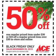 50% Off 1 Regular Priced Item Under $30, Or $15 Off a Regular Priced Item Over $30