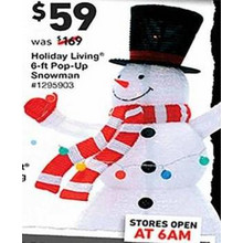 Holiday Living 6-ft. Pop-Up Snowman