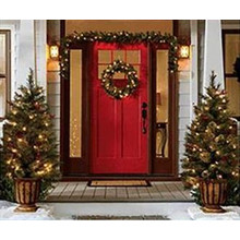 Holiday Living 4-pk. Front Door Decoration Kit w/ 42-in. White Incandescent Lights