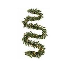 Holiday Living Indoor/Outdoor Pre-lit 9-ft. Ellston Pine Garland w/ White Incandescent Lights