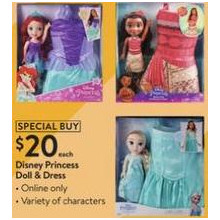 Disney Princess Doll & Dress (11/4 Online)