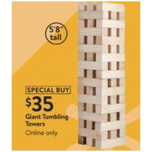 Giant Tumbling Towers Jenga-Style Game (11/4 Online)