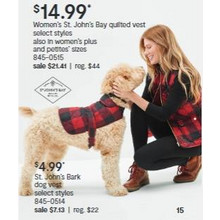 Select St. Johns Bark Dog Vest