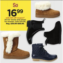 Entire Stock of SO Boots and Shoes for Women