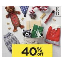 40% off Entire Stock of ED Ellen DeGeneres Pet Accessories