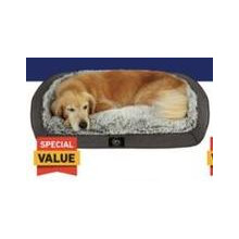 39-in x 29-in Gray Plush Dog Bed