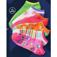 Wonder Nation Girls' Socks 15-Pack (11/27 In-Store Only)