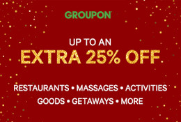 Groupon - Up to an Extra 25% Off