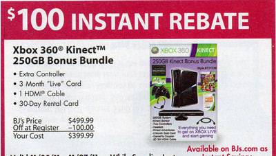 Xbox 360 Kinect 250GB Bonus Bundle