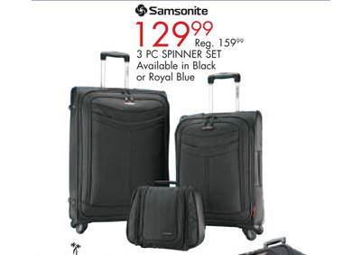 Samsonite 3-Pc. Spinner Set (Friday Only)